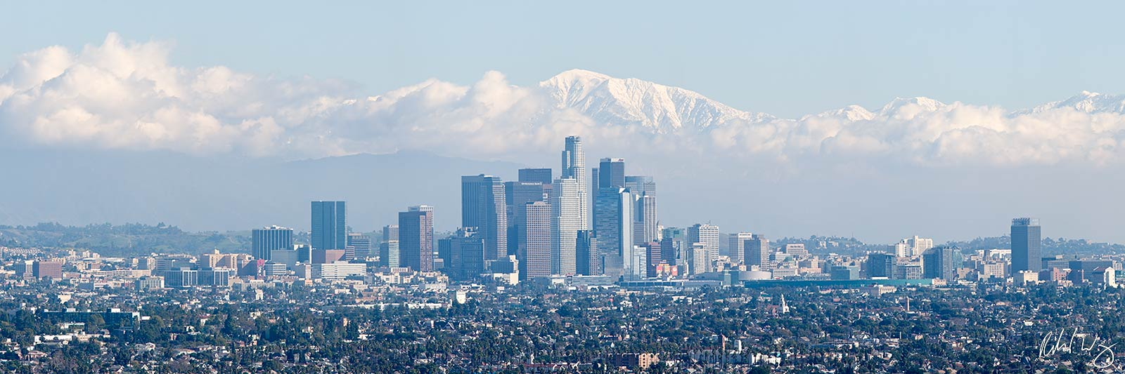 Los Angeles Panoramic Photo After Winter Storm, California, photo, photo
