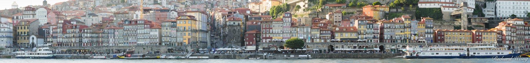 Ribeira Waterfront (UNESCO World Heritage Site) Panoramic, Porto, Portugal, photo, photo