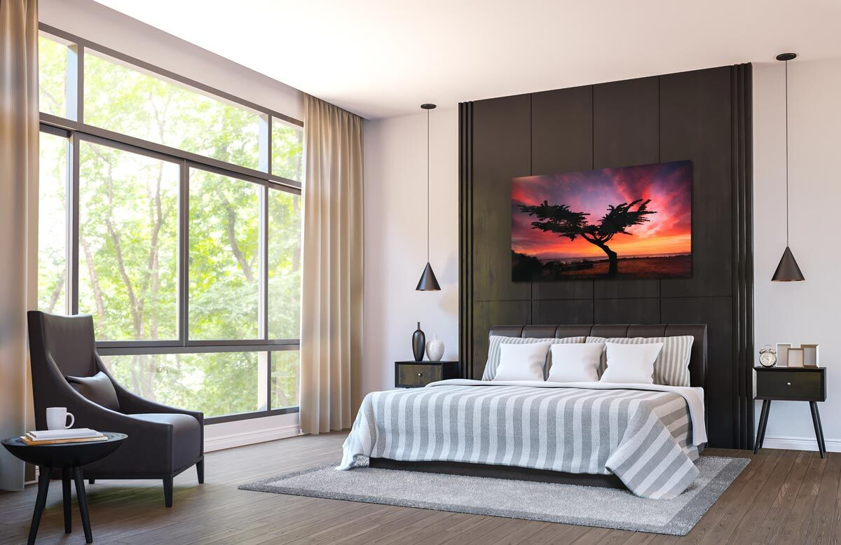 Lumachrome TruView Acrylic Print in Bedroom