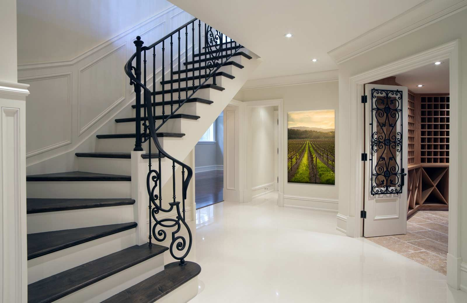 Home Interior Design Staircase and Hallway