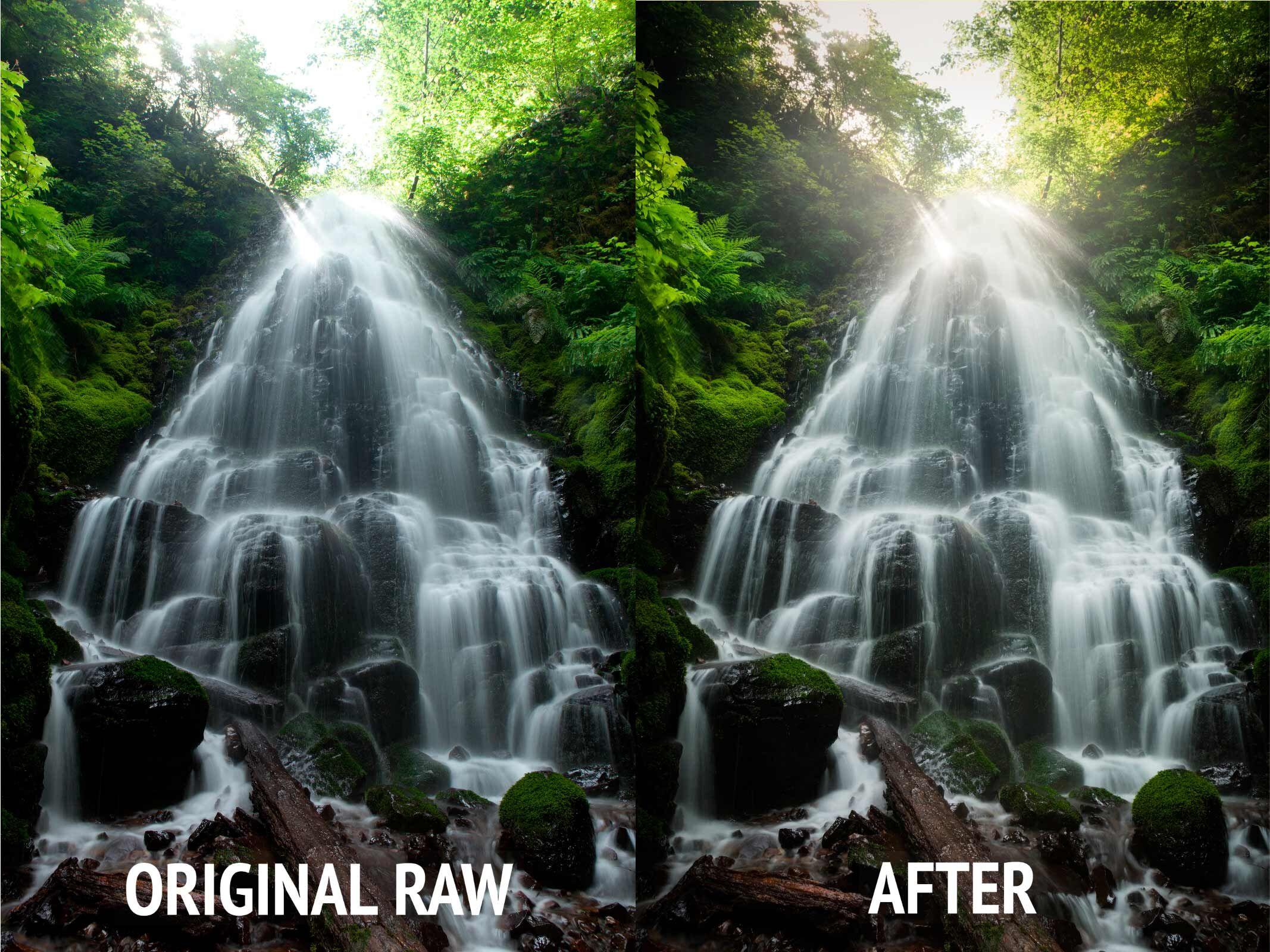 Waterfall Photo Photoshop & Lightroom Tutorials
